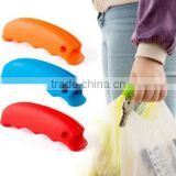 Comfortable silicone shopping bag handle grip with hanging hole