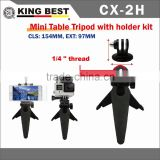 KING BEST CX-2H New products 2016 sport camera acessories FOR gopros Table mine tripod kit