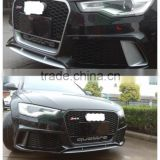 A6 RS6 ABS Front Bumper with Grill Grille for Audi A6 RS6 Sline 2013-2015