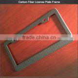 Custom 3K glossy/matt carbon fiber car license plate frame carbon fiber parts for audi