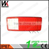WEIKEN New Products 12V/24V auto bus led tail lights truck rear/ brake/ turn signal lights