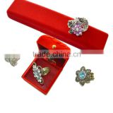 K.Chunyuan Luxury Glossy Imitation Hand Carved Velvet Jewelry Boxes/Handmade Jewelry Boxes.