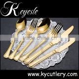 gold plated flatware sets, bulk gold cutlery, wedding cutlery set wholesale                                                                         Quality Choice