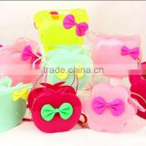 OEM ladies bag Jelly single shoulder bag Slap-up women evening bag Candy corlor jelly bag,Butter shape jelly candy bag
