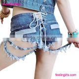 Fashion Blue Sexy Ladies Short Jeans Pants