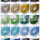 Turtle shaped crystal glass beads color chart crystal bead card