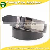 Fashion style Man black pu leather brand belt for suit with metal square accessories in YiWu
