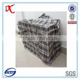 Customized PP Black Check Luggage Travel Sacks Woven Bags                                                                         Quality Choice