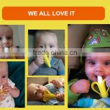 Babymatee best selling products child baby infant banana bendable training toothbrush infant child care