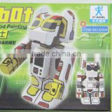 Ruby Robot Wood Painting Used Robot Painting Toys