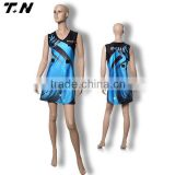 Fashionable sublimaiton custom design netball dress