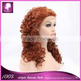 Celebrity wig synthetic hair lace front wig jerry curl hair style party wig any color is available
