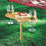eco-friendly bamboo Outdoor Wine folding Table 2 Pcs Dating need Outdoor Oval Wine Champagne Grass Bamboo Drinking wine Table                                                                         Quality Choice