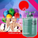 Disposable helium balloon tank for balloons