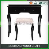 Table Mirror and Stool Set Simple Wood Dressing Table Designs                                                                         Quality Choice