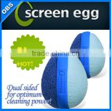 Screen Egg Dual Action Microfiber Tablet Smartphone and Screen Cleaner - Set of 2 (model no.:4008)