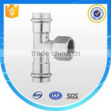 316 Stainless Steel Groove Pipe Fittings female Tee