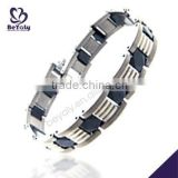 China Manufacturer 2015 latest stainless steel gold bracelet with pendant