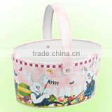 New design hot selling Nice-Can Small Metal Cartoon Cute Tin Bucket with Handle For Children