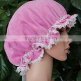 Holme used for women solid lace silk / poly sleeping cap