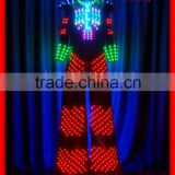 Full color change led costume for walk stitle led costume robot,event stage light up led suit