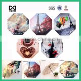 customized pictures print ODM auto open close parasol travel 3 folding beautiful umbrella