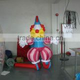 customized inflatable giant clown/ pvc inflatable advertising clown model/ inflatable cartoon clown balloon