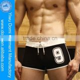 2014 High quality mens square swim shorts in hot summer /swimming shorts for men/ mens sexy bathing suit