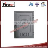 Five years quality assurance cast iron wood stove door