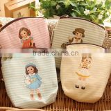 fashion canvas custom Zipper coin purse little girls printing wallet promotional gift lassock printed euro coin purse