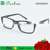 2016 latest design CP injection fake acetate good quality korean optical frames with wood brushed color