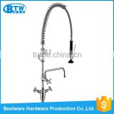 China factory design dual handle deck mounted stainless steel 304 basin sink kitchen faucet