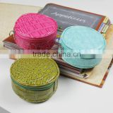 stone PU leather jewelry pouch mini round coin purse
