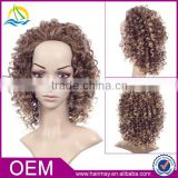 Afro kinky box braid wig indian women hair artificial wig synthetic lace front wig