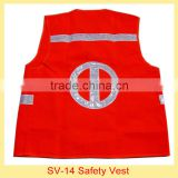 red high visible polyester reflector safety vest