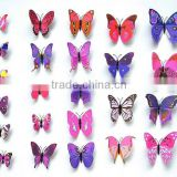 12Pcs Creative Butterflie 3D Wall Stickers Removable Home Decors Art DIY Plastic Decorations