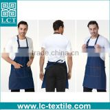 mens heavy duty denim bib type work aprons with pockets