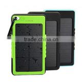10000mah Best Quality Keychain Outdoor Solar Charger for Mobile Phone