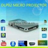 2016 hot sale led DLP 02 projector with tablet pc function buletooth android os micro projector