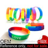 Professional cheap rainbow colour custom bracelet gay pride