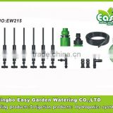 Four way mister+Anti drip valve. mist system for small greenhouse .Garden sprinkler. Sprinkler Micro irrigation kits.