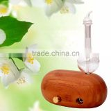 Elegant Bamboo and Glass LED Aroma Diffuser Nebulization Oil Diffuser