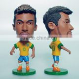 Custom soccer player toy, OEM plastic mini soccer game toy,Custom mini football plyer toy soccer figure