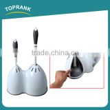 Toprank New Product 2 In 1 Plastic Toilet Brush And Toilet Plunger Set Toilet Bowl Brush With Stand