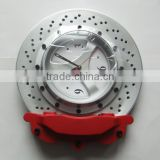 High quality fancy car wheel hub shape metal wall clock