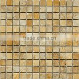 High Quality Gold Travertine Mosaic Tiles For Bathroom/Flooring/Wall etc & Best Marble Price