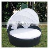 Modern outdoor patio wicker/rattan sun lounger D002