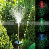 Solar Power Color-Changing fibre optic LED Yard Lawn Light Outdoor Spotlight Garden Lamp
