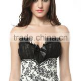 Women's Court Sexy Lace Shapewear Overbust Corset Bustier with Strapless underwear corset