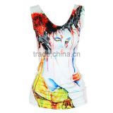 OEKOTEX-CERTIFICATE Factory Custom polyester double jersey sublimation sleeveless shirt